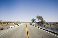 Old route 66 in the Mojave desert in California