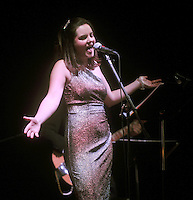 NWA Media/Michael Woods --06/28/2014-- w @NWAMICHAELW...Kara Story sings during a concert Saturday evening in Clapp Auditorium at Mount Sequoyah Assembly in the first of a ÒMusic on the MountainÓ series of concerts.
