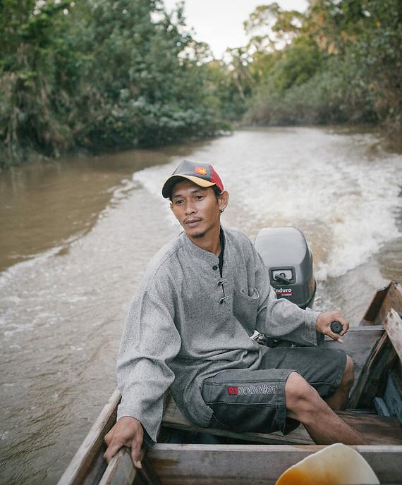 River transportation in Mentawai.