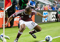 Colorado Rapids defender Marvell Wynne (22) during the first half of the game between Chivas USA and Colorado Rapids at the Home Depot Center in Carson, CA, on March 26, 2011. Final score Chivas USA 0, Colorado Rapids 1.