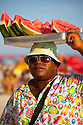 Watermelon seller in Ipanema beach, Rio de Janeiro, Brazil.