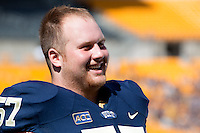 Pitt offensive lineman Artie Rowell. The Pitt Panthers defeated the New Mexico Lobos 49-27 on Saturday, September 14, 2013 at Heinz Field, Pittsburgh, Pennsylvania.