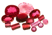 POLISHED CORUNDUM - RUBIES<br /> (Variations Available)<br /> A variety of the mineral aluminum oxide<br /> Corundum is a transparent form of aluminum oxide, called ruby when red coloration is present.