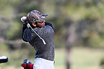 KANNAPOLIS, NC - APRIL 09: South Carolina's Ryan Stachler tees off on the 10th hole. The third round of the Irish Creek Intercollegiate Men's Golf Tournament was held on April 9, 2017, at the The Club at Irish Creek in Kannapolis, NC.