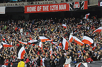 D.C. United fans. D.C. United tied The Houston Dynamo 1-1 but lost in the overall score 4-2 in the second leg of the Eastern Conference Championship at RFK Stadium, Sunday November 18, 2012.