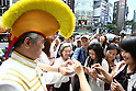 July 2, 2010 - Tokyo, Japan - Candidate for the July 11 Upper House elections Yoshiro Nakamatsu meets his supporters in Ginza district, Japan, Tokyo on July 2, 2010. Also known as Dr. NakaMats, the Japanese inventor claims to hold the world record for number of inventions with over 3,200, including the floppy disk, the CD, the DVD, the digital watch, Cinemascope, and the taxicab meter.