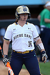 25 April 2016: Notre Dame's Caitlyn Brooks. The University of North Carolina Tar Heels hosted the University of Notre Dame Fighting Irish at Anderson Stadium in Chapel Hill, North Carolina in a 2016 NCAA Division I softball game. UNC won the game 7-6.