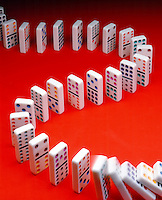 DOMINO EFFECT<br /> (Variations Available)<br /> Falling In Succession In S-Curve Pattern<br /> A cumulative effect produced when one event, knocking over the first domino, sets off a chain of similar events.