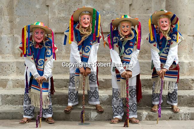 Costumed performers in park in Morelia