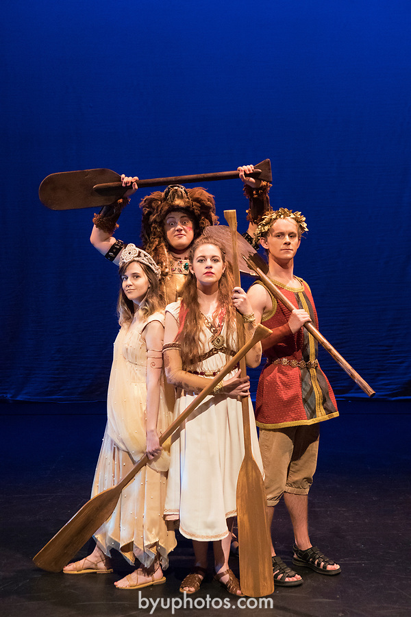 1705-11 287<br /> <br /> Hera (Hannah Staley), Hercules (Tommy Kindall), Medea (Olive Ockey), Jason (Dylan Wright) ) in BYU&rsquo;s family production of &ldquo;Agonautika&rdquo; by Mary Zimmerman.<br /> <br /> 1705-11 TMA Argonautika<br /> <br /> May 3, 2017<br /> <br /> Photo by  Aaron Cornia/BYU<br /> <br /> Copyright BYU Photo 2017<br /> All Rights Reserved<br /> photo@byu.edu  <br /> (801)422-7322