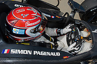 20-21 Febuary, 2012 Birmingham, Alabama USA.Simon Pagenaud cockpit.(c)2012 Scott LePage  LAT Photo USA