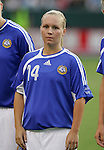 25 August 2007: Susanna Lehtinen. The United States Women's National Team defeated the Women's National Team of Finland 4-0 at the Home Depot Center in Carson, California in an International Friendly soccer match.