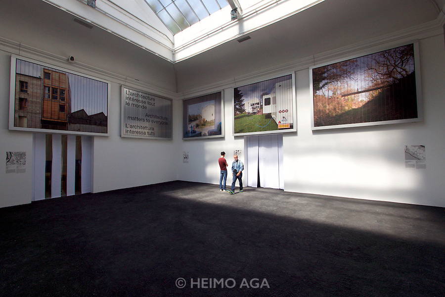 Venice, Italy - 15th Architecture Biennale 2016, &quot;Reporting from the Front&quot;.<br /> Giardini.<br /> French Pavilions.<br /> New Riches.
