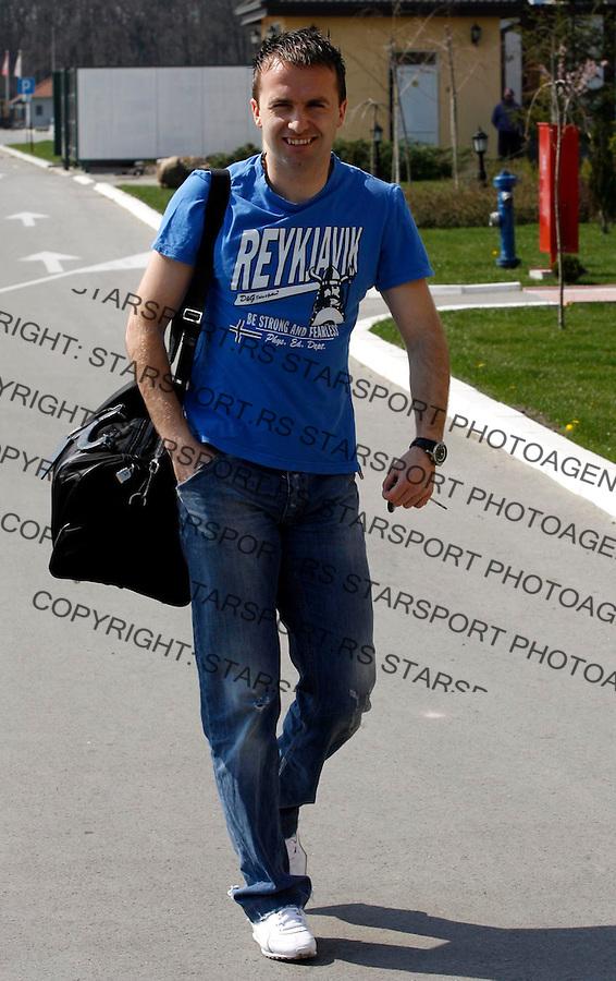 Fudbal, pripreme za EURO 2008<br /> Pripreme za mec sa Kazahstanom<br /> Ognjen Koroman<br /> Beograd, 19.03..2007.<br /> foto: Srdjan Stevanovic