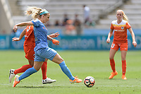 Houston, TX - The Houston Dash defeated the Chicago Red Stars 2-0 on Saturday April 15, 2017: Rachel Daly, Julie Ertz during a regular season National Women's Soccer League (NWSL) match at BBVA Compass Stadium.