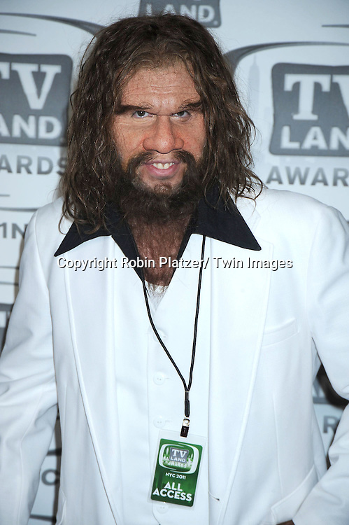 Geico Caveman attending The TV Land Awards 2011 .on April 10, 2011 at the Jacob Javits Center in New York City.