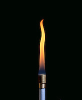 AIR INTAKE AFFECTS BUNSEN BURNER FLAME (1 of 4)<br />