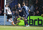 Ross County v St Johnstone&hellip;..30.04.16  Global Energy Stadium, Dingwall<br />Steven MacLean scores to make it 1-0<br />Picture by Graeme Hart.<br />Copyright Perthshire Picture Agency<br />Tel: 01738 623350  Mobile: 07990 594431