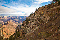 Bright Angel Fault, Plateau Point from the top of The Bright Angel Trail