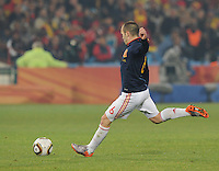 Spain's Andres Iniesta scored his team's second goal. Spain won Group H following a 2-1 defeat of Chile in Pretoria's Loftus Versfeld Stadium, Friday, June 25th, at the 2010 FIFA World Cup in South Africa..