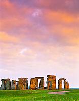Stonehenge, Stone Circle on Salisbury Plain, 3000-1500 BC, Wiltshire, England, UK - Europe's most Famous Prehistoric Site