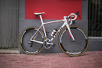 Alberto Contador's costumised Trek Emonda<br /> <br /> january 2017, Tenerife/Spain