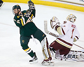 Connor Brickley (Vermont - 23), John Muse (BC - 1) - The Boston College Eagles defeated the visiting University of Vermont Catamounts 6-0 on Sunday, November 28, 2010, at Conte Forum in Chestnut Hill, Massachusetts.
