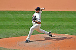 14 September 2008: Cleveland Indians' pitcher Rafael Betancourt on the mound in relief against the Kansas City Royals at Progressive Field in Cleveland, Ohio. The Royal defeated the Indians 13-3 to take the 4-game series three games to one...Mandatory Photo Credit: Ed Wolfstein Photo