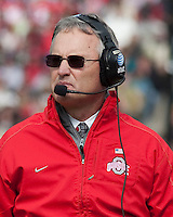 Ohio State head coach Jim Tressel. The Purdue Boilermakers defeated the Ohio State Buckeyes 26-18 at Ross-Ade Stadium, West Lafayette, Indiana on October 17, 2009..
