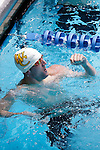 23 MAR 2012: Karl Mering of Whitman College celebrates after the consolation final of the 200 yard butterfly event during the Division III Men's and Women's Swimming and Diving Championship held at the IU Natatorium in Indianapolis, IN. Mering won the event with a time of 1:48.95.  Joe Robbins/NCAA Photos
