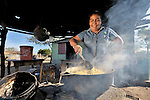 Guillermina Jarquin prepares a meal for her family in Santa Paula, a village in northwestern Nicaragua.