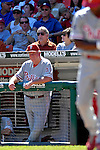 23 September 2007: Philadelphia Phillies Manager Charlie Manuel watches action from the dugout during a game against the Washington Nationals at Robert F. Kennedy Memorial Stadium in Washington, DC. The Nationals defeated the visiting Phillies 5-3 to close out the 2007 home season and the final game in baseball history at RFK Stadium. The Nationals will open up the 2008 season at Nationals Park, their new facility currently under construction.. .Mandatory Photo Credit: Ed Wolfstein Photo