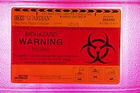 Biohazard container label
