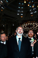 Roma 13 Marzo 2006.Il  rabbino capo di Roma, Riccardo Di Segni  in visita alla Moschea di Roma..Rome March 13, 2006.The chief rabbi of Rome, Riccardo Di Segni visited the Mosque of Rome.