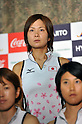 Nagisa Hayashi (JPN), .JUNE 14, 2012 - Hockey : Japan National Team during the Press Conference about the entering representative of London Oiympic Games at Kishi Memorial Gymnasium, Tokyo, Japan. (Photo by Jun Tsukida/AFLO SPORT) [0003].