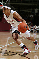 8 February 2007: Stanford Cardinal Markisha Coleman during Stanford's 60-34 win against the Washington State Cougars at Maples Pavilion in Stanford, CA.