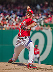 27 April 2014: Washington Nationals pitcher Taylor Jordan on the mound against the San Diego Padres at Nationals Park in Washington, DC. The Padres defeated the Nationals 4-2 to to split their 4-game series. Mandatory Credit: Ed Wolfstein Photo *** RAW (NEF) Image File Available ***