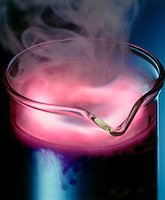 POTASSIUM REACTS EXPLOSIVELY WITH WATER<br />