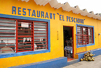 El Pescador seafood restaurant in the Spanish colonial river town of Tlacotalpan, Veracruz, Mexico. Tlacotlapan was made a UNESCO World Heritage Site in 1998.
