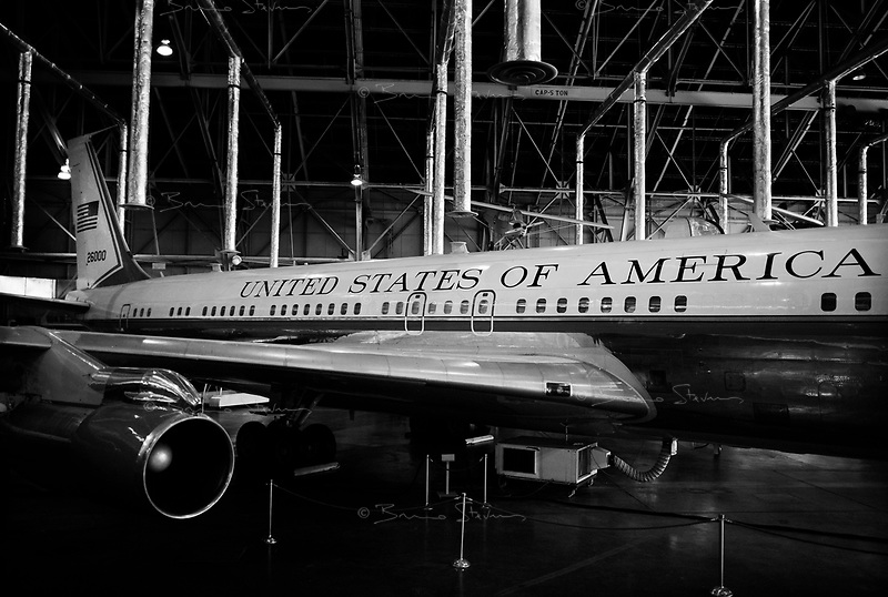 Dayton, OH, October 29, 2008.US Air Force National Museum shelters SAL26000, the Boeing 707 wich carried the body of president Kennedy from Dallas to Washington and inside wich Lyndon Johnson was sworn president.