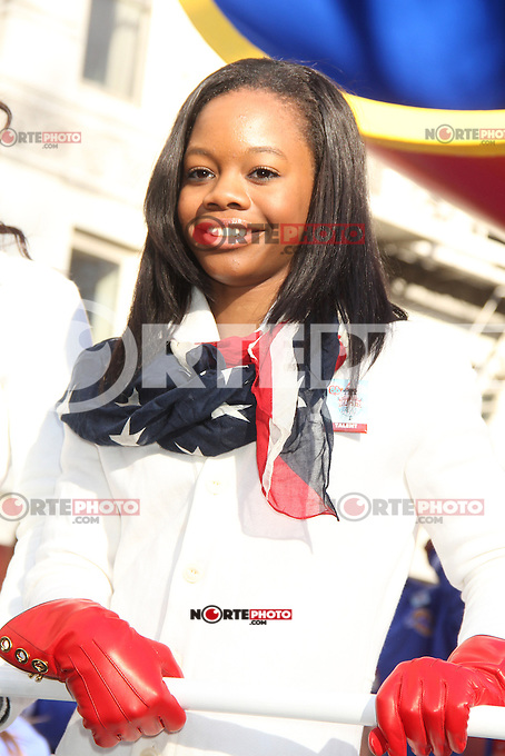 NEW YORK, NY - NOVEMBER 22: Gabby Douglas at the 86th Annual Macy's Thanksgiving Day Parade on November 22, 2012 in New York City. Credit: RW/MediaPunch Inc. /NortePhoto