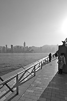 The Avenue of Stars, Kowloon waterfront, with Hong Kong island waterfront in the background