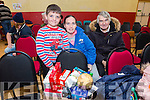 First Hamper won at the St. Brendan's Community Centre, Ballydwyer Annual Bazaar on Sunday by Cian O'Sullivan O'Rourke, Nora O'Sullivan and Denis O'Sullivan from Kilcummin