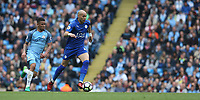 Leicester City's Yohan Benalouane<br /> <br /> Photographer Stephen White/CameraSport<br /> <br /> The Premier League - Manchester City v Leicester City - Saturday 13th May 2017 - Etihad Stadium - Manchester<br /> <br /> World Copyright &copy; 2017 CameraSport. All rights reserved. 43 Linden Ave. Countesthorpe. Leicester. England. LE8 5PG - Tel: +44 (0) 116 277 4147 - admin@camerasport.com - www.camerasport.com
