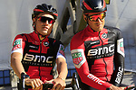 BMC Racing Team on stage at sign on before the 101st edition of the Tour of Flanders 2017 running 261km from Antwerp to Oudenaarde, Flanders, Belgium. 26th March 2017.<br /> Picture: Eoin Clarke | Cyclefile<br /> <br /> <br /> All photos usage must carry mandatory copyright credit (&copy; Cyclefile | Eoin Clarke)