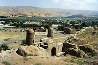 In the Yagnob river valley, 20 Kilometers from the capital Dushanbe, the 18th century fortress, mausoleum and medressas of Hissar