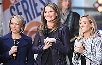 NEW YORK, NY - APRIL 19: Dylan Dreyer, Savannah Guthrie and Sheryl Crow pictured at NBC's Today Show in New York City on April 19, 2017. <br /> CAP/MPI/RW<br /> &copy;RW/MPI/Capital Pictures
