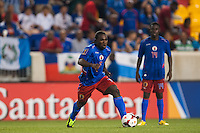 Haiti defender Jeff Louis (7) Honduras defeated Haiti 2-0 during a CONCACAF Gold Cup group B match at Red Bull Arena in Harrison, NJ, on July 8, 2013.