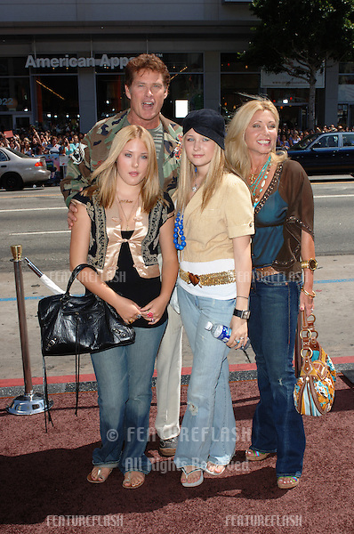 Actor DAVID HASSELHOFF & family at the world premiere, in Hollywood, of Charlie and the Chocolate Factory..July 10, 2005 Los Angeles, CA.© 2005 Paul Smith / Featureflash