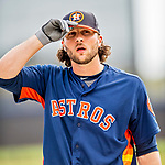 1 March 2017: Houston Astros outfielder Jake Marisnick awaits his turn in the batting cage prior to Spring Training action against the Miami Marlins at the Ballpark of the Palm Beaches in West Palm Beach, Florida. The Marlins defeated the Astros 9-5 in Grapefruit League play. Mandatory Credit: Ed Wolfstein Photo *** RAW (NEF) Image File Available ***